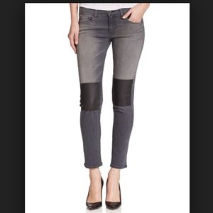 Rag & Bone Tomboy Jean Faux Leather Knee Patches